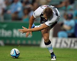 Drew Mitchell goes over to score a try. NSW Waratahs v Fiji. Investec Super Rugby Preseason match, 04 February 2011 SYdney Football Stadium, Australia. Photo: Clay Cross / photosport.co.nz