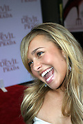 Hayden Panettiere portrayed before entering the 'The Devil Wears Prada' premiere at the AMC LOEWS in Lincoln Square, New York, USA, on Monday, June 20, 2006. **ITALY OUT**