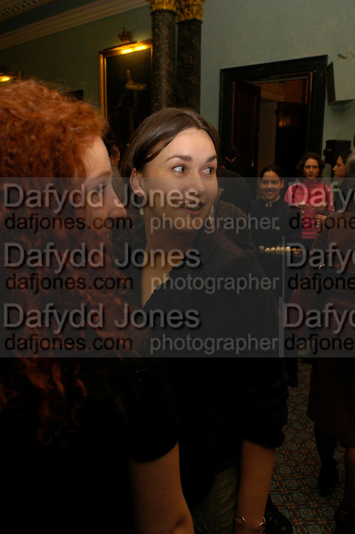 Lola Naymark and director Eleonore Faucher. The Renault French Film season 2005 Press launch. Institute of Directors. 116 Pall Mall. London Sw1. 31 March 2005. ONE TIME USE ONLY - DO NOT ARCHIVE  © Copyright Photograph by Dafydd Jones 66 Stockwell Park Rd. London SW9 0DA Tel 020 7733 0108 www.dafjones.com