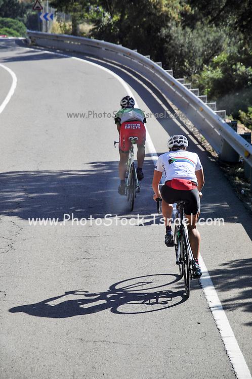 Road Cyclists photographed Costa Brava, Catalonia, Spain
