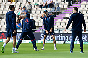 Chris Woakes of England warming up but misses out on the final team selection during the first day of the 4th SpecSavers International Test Match 2018 match between England and India at the Ageas Bowl, Southampton, United Kingdom on 30 August 2018.