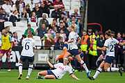 Rianna Dean (Tottenham Hotspur) celebrates her goal during the FA Women's Super League match between West Ham United Women and Tottenham Hotspur Women at the London Stadium, London, England on 29 September 2019.