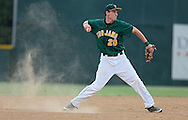West shortstop Luke Crimmins (20) throws to first for an out during their substate baseball game at Iowa City West High School in Iowa City on Friday evening, July 13, 2012. West defeated Washington 6-0.
