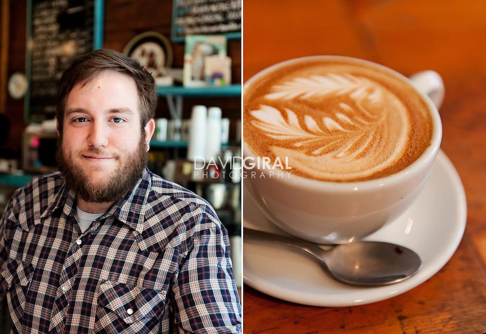 Editorial Travel Photography: Portrait and detail at Café Névé, montreal, quebec, canada