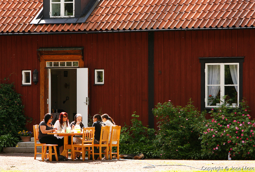 """Gamla Uppsala, """"Old Uppsala"""", dating back to the 3rd century A.D. was known throughout Northern Europe as the residence of the Swedish kings of the legendary House of Yngling Dynasty. Locals celebrate their history on special holidays.<br /> Photography by Jose More"""