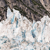 Detailed view of the top of the Northwestern Glacier, located in Kenai Fjords National Park, Alaska