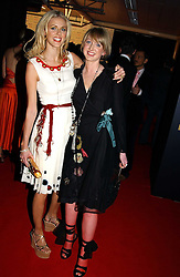 Left to right, DONNA AIR and her sister FRANCESCA at the Moet & Chandon Fashion Tribute 2005 to Matthew Williamson, held at Old Billingsgate, City of London on 16th February 2005.<br />