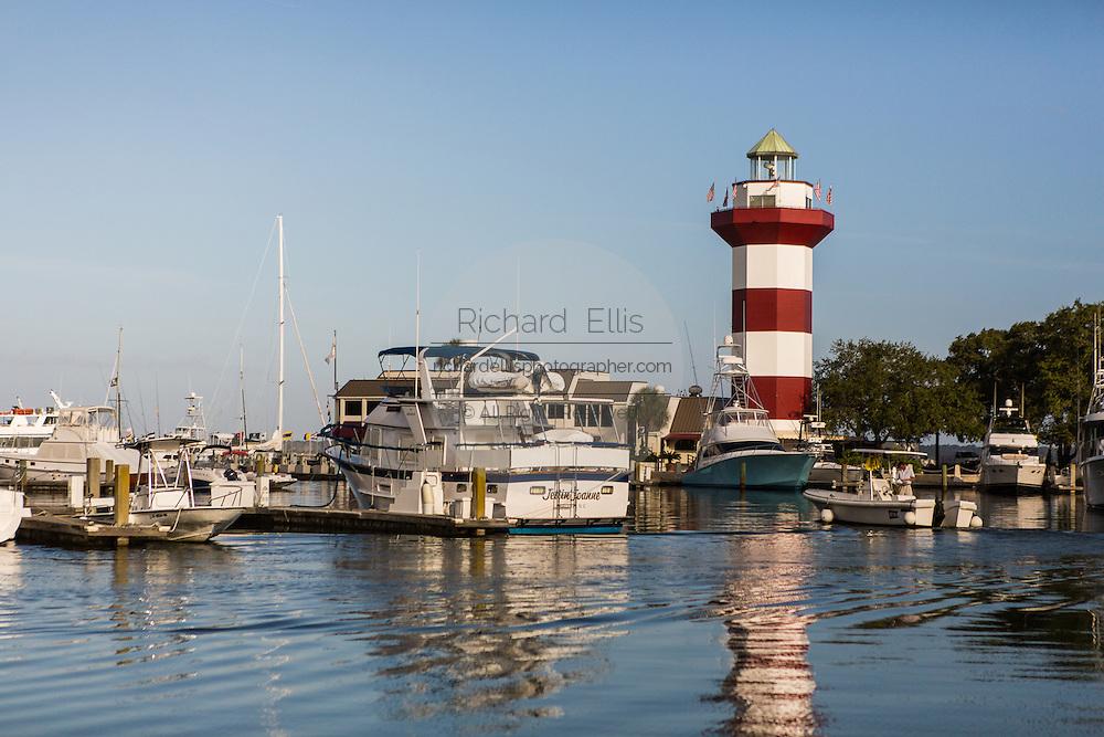 Harbor Town lighthouse at Sea Pines Plantation on Hilton Head Island, SC