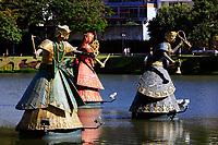 orishas fountain in the beautiful city of salvador in bahia state brazil