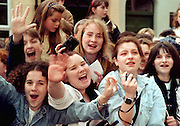 Westlife  fans at the town Hall, Sligo, where Westlife were given fredom of Sligo. Photo: James Connolly/GreenGraph