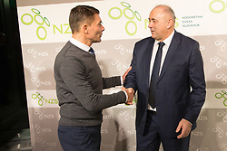 Saso Udovic and Radenko Mijatovic, president of NZS during Traditional New Year party of of the Slovenian Football Association - NZS, on December 18, 2017 in Kongresni center, Brdo pri Kranju, Slovenia. Photo by Vid Ponikvar / Sportida