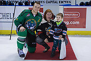 KELOWNA, CANADA - MARCH 17:  Third Star of the Game Gordie Ballhorn #4 of the Kelowna Rockets at the Kelowna Rockets game on March 17, 2018 at Prospera Place in Kelowna, British Columbia, Canada.  (Photo By Cindy Rogers/Nyasa Photography,  *** Local Caption ***