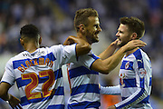 Reading's Carlos Orlando Sa and team mates celebrates his second goal during the Sky Bet Championship match between Reading and Ipswich Town at the Madejski Stadium, Reading, England on 11 September 2015. Photo by Mark Davies.
