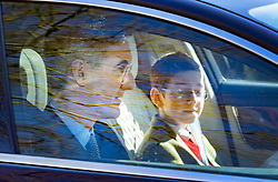 © Licensed to London News Pictures. 24/03/2019. Chequers , UK. Jacob Rees Mogg and his son arrive at Chequers for a meeting with the Prime Minister. There have been reports of a cabinet revolt against Prime Minister Theresa May, over her handing of the Brexit negotiations. Photo credit: Peter Macdiarmid/LNP