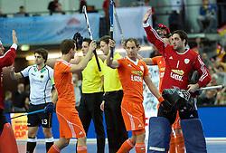 LEIZPIG - WC HOCKEY INDOOR 2015<br /> GER v NED (Semi Final 1)<br /> Netherlands<br /> FFU PRESS AGENCY COPYRIGHT FRANK UIJLENBROEK