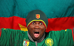 19.06.2010, Loftus Versfeld Stadium, Pretoria, RSA, FIFA WM 2010, Cameroon (CMR) vs Denmark (DEN), im Bild Tifoso del Camerun, Fans from Cameroon.EXPA Pictures © 2010, PhotoCredit: EXPA/ InsideFoto/ Giorgio Perottino +++ for AUT and SLO only +++ / SPORTIDA PHOTO AGENCY