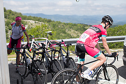 Spela Kern (SLO) cools down after finishing Stage 4 the Emakumeen Bira - a 58 km road race, between Etxarri Aranatz and San Miguel on May 20, 2017, in Basque Country, Spain. (Photo by Balint Hamvas/Velofocus)