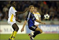 BRUGGE, 27/09/2003<br /> CLUB BRUGGE vs SK BEVEREN / FC BRUGGE vs SK BEVEREN /<br /> BENGT SÆTERNES & GNERI TOURE<br /> PICTURE BY NICO VEREECKEN<br /> Photo: Digitalsport<br /> BRÜGGE