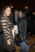 l to r: Margeaux Watson and Phyllis Fant at The 2009 Fall Baby Phat Fashion Show held at Gotham Hall on February 17, 2009 in New York City.