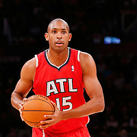 03 November 2013: Atlanta Hawks center Al Horford (15) looks to pass the ball during the Los Angeles Lakers 105-103 victory over the Atlanta Hawks at the Staples Center, Los Angeles, California, USA.