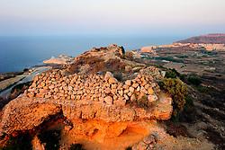 MALTA GOZO ZEBBUG 20JUL06 - View from Zebbug cliff onto Marsalforn. Detail of dry stone wall...jre/Photo by Jiri Rezac..© Jiri Rezac 2006..Contact: +44 (0) 7050 110 417.Mobile: +44 (0) 7801 337 683.Office: +44 (0) 20 8968 9635..Email: jiri@jirirezac.com.Web: www.jirirezac.com