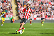 Oliver McBurnie of Sheffield United during the Premier League match between Sheffield United and Southampton at Bramall Lane, Sheffield, England on 14 September 2019.