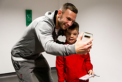 Andi Weimann of Bristol City as mascots meet the players - Rogan/JMP - 10/12/2019 - Ashton Gate Stadium - Bristol, England - Bristol City v Milwall FC - Sky Bet Championship.