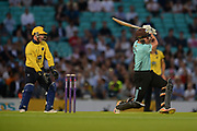 Moises Henriques of Surrey batting during the NatWest T20 Blast South Group match between Surrey County Cricket Club and Warwickshire County Cricket Club at the Kia Oval, Kennington, United Kingdom on 25 August 2017. Photo by Dave Vokes.