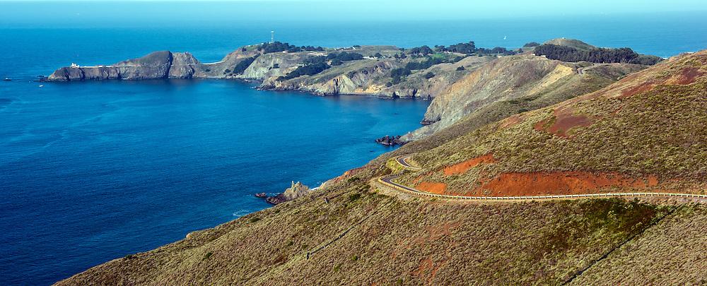 Bluffs Along The California Coast