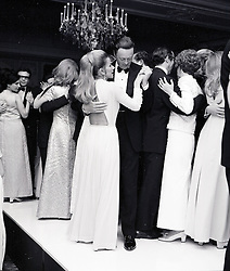 The 11th DUKE OF MARLBOROUGH and his 2nd wife TINA ONASSIS at a fashion show at The Savoy, London in November 1968.