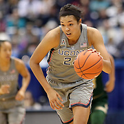 HARTFORD, CONNECTICUT- JANUARY 10: Napheesa Collier #24 of the Connecticut Huskies in action during the the UConn Huskies Vs USF Bulls, NCAA Women's Basketball game on January 10th, 2017 at the XL Center, Hartford, Connecticut. (Photo by Tim Clayton/Corbis via Getty Images)