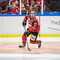 2019-09-17 | Malmö, Sweden: Malmö Redhawks (44) Jesper Jensen Aabo during the game between Malmö Redhawks and Rögle BK at Malmö Arena ( Photo by: Roger Linde | Swe Press Photo )<br /> <br /> Keywords: Malmö Arena, Malmö, Icehockey, SHL, Malmö Redhawks, Rögle BK, mr190917