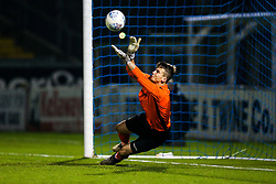 Liam Armstrong of Bristol Rovers U18 saves a penalty in the shootout - Rogan/JMP - 02/11/2017 - FOOTBALL - Memorial Stadium - Bristol, England - Bristol Rovers U18 v Forest Green Rovers U18 - FA Youth Cup 1st Round.