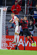 Ajax midefielder Daley Sinkgraven (8) and Flamengo midfielder Everton Ribeiro (7) in action during a Florida Cup match at Orlando City Stadium on Jan. 10, 2019 in Orlando, Florida. <br /> Flamengo won in penalties 4-3.<br /> <br /> ©2019 Scott A. Miller