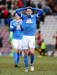 Michael Smith of Peterborough United leaves the pitch dejected at full-time - Mandatory by-line: Joe Dent/JMP - 04/03/2017 - FOOTBALL - Coral Windows Stadium - Bradford, England - Bradford City v Peterborough United - Sky Bet League One