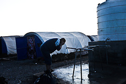 December 4, 2016 - Mosul, Iraq - Internally Displaced People fleeing ISIS from Mosul as Iraqi Security Forces move to clear the city of the terror network adjust to life at Hassan Sham 3 Camp in Kurdistan Region. (Credit Image: © ZUMA Wire via ZUMA Wire)