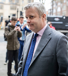 © Licensed to London News Pictures. 22/03/2019. London, UK. Conservative MP Christopher Davies arrives at Westminster Magistrates Court where he is accused of two offences of forgery and one of providing false or misleading information for expenses claims. Photo credit: Rob Pinney/LNP
