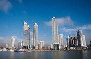 Vista de la bahía de Panamá en la marina Miramar, ciudad de Panamá. Panamá, 1 de febrero de 2012. (Victoria Murillo/Istmophoto)