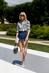 Street style, model Daria Strokous arriving at Dior Fall-Winter 2018-2019 Haute Couture show held at Musee Rodin, in Paris, France, on July 2nd, 2018. Photo by Marie-Paola Bertrand-Hillion/ABACAPRESS.COM