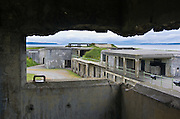 """Fort Casey was one of three forts (including Fort Worden and Fort Flagler) built in the late 1890s to guard Admiralty Inlet with a """"Triangle of Fire"""", protecting Puget Sound ports. The United States used the fort heavily for World War I training, but never in actual combat. All armaments were scrapped for other purposes by 1945. Fort Casey State Park, Ebey's Landing National Historical Reserve, Whidbey Island, Washington, USA."""
