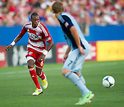 FRISCO, TX - JUNE 22:  Jackson #6 of FC Dallas brings the ball up field against Sporting Kansas City on June 22, 2013 at FC Dallas Stadium in Frisco, Texas.  (Photo by Cooper Neill/Getty Images) *** Local Caption *** Jackson