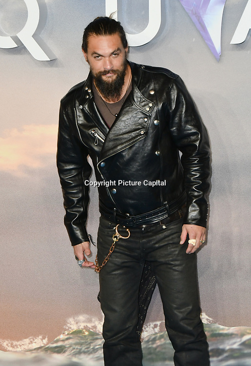 Jason Momoa Arrivers at Aquaman - World Premiere at Cineworld Leicester Square on 26 November 2018, London, UK.