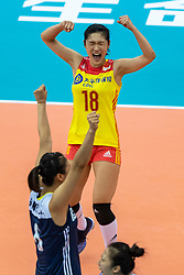 14-10-2018 JPN: World Championship Volleyball Women day 15, Nagoya<br /> China - United States of America 3-2 / Mengjie Wang #18 of China