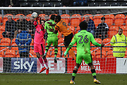 Forest Green Rovers goalkeeper Bradley Collins(1) makes a save during the EFL Sky Bet League 2 match between Barnet and Forest Green Rovers at The Hive Stadium, London, England on 7 April 2018. Picture by Shane Healey.