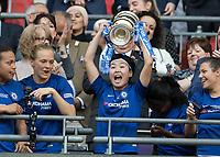 Football - SSE Women's FA Cup Final - Arsenal Women vs. Chelsea Ladies<br /> <br /> Ji So-yun (Chelsea Ladies FC) with the Womens FA cup at Wembley Stadium.<br /> <br /> COLORSPORT/DANIEL BEARHAM