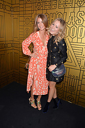 Left to right, MILLIE MACKINTOSH and POPPY JAMIE at a party to celebrate 10 years of footware designer Nicholas Kirkwood held at 9 Adam Street, London on 19th September 2015.