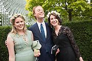 TARKA RUSSELL; NATHAN CLEMENTS-GILLESPIE; KATERINA OTTMANN, 2016 SERPENTINE SUMMER FUNDRAISER PARTY CO-HOSTED BY TOMMY HILFIGER. Serpentine Pavilion, Designed by Bjarke Ingels (BIG), Kensington Gardens. London. 6 July 2016
