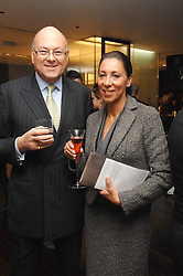 LLOYD DORFMAN Founder of Travelex and his wife SARAH DORFMAN at a Valentine's Party in aid of Chickenshed held at De Beers, 50 Old Bond Street, London W1 on 6th Fbruary 2008.<br /><br />NON EXCLUSIVE - WORLD RIGHTS