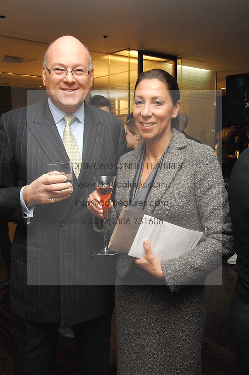 LLOYD DORFMAN Founder of Travelex and his wife SARAH DORFMAN at a Valentine's Party in aid of Chickenshed held at De Beers, 50 Old Bond Street, London W1 on 6th Fbruary 2008.<br />
