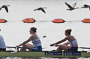 Caversham, Nr Reading, Berkshire.<br /> <br /> GBR W8+. left Frances HOUGHTON and Melanie WILSON,  Olympic Rowing Team Announcement morning training before the Press conference at the RRM. Henley.<br /> <br /> Thursday  09.06.2016<br /> <br /> [Mandatory Credit: Peter SPURRIER/Intersport Images]